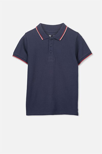 Kenny3 Polo, WASHED NAVY/TIPPING