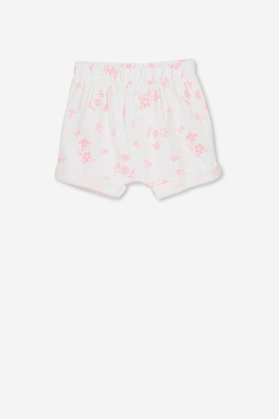Sidney Short, WHITE/PINK GRAPEFRUIT FLORAL