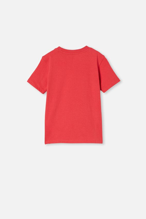 Max Skater Short Sleeve Tee, LUCKY RED/SANTA JAWS