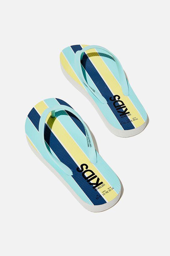 Printed Flip Flop, DREAM BLUE STRIPE