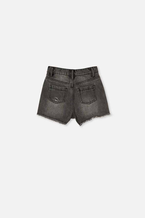 Sunny Denim Short, BLACK WASH/RIPS