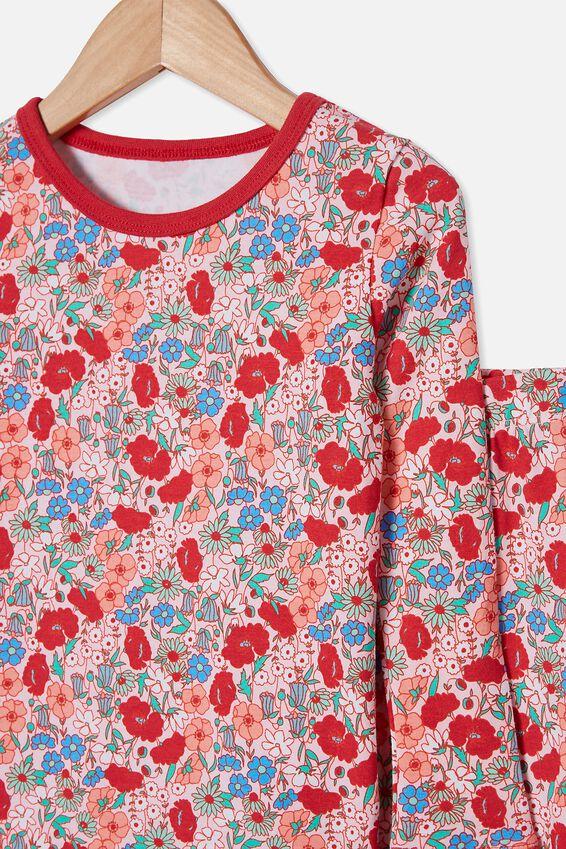 Florence Long Sleeve Pyjama Set, LIBERTY FLORAL PINK QUARTZ