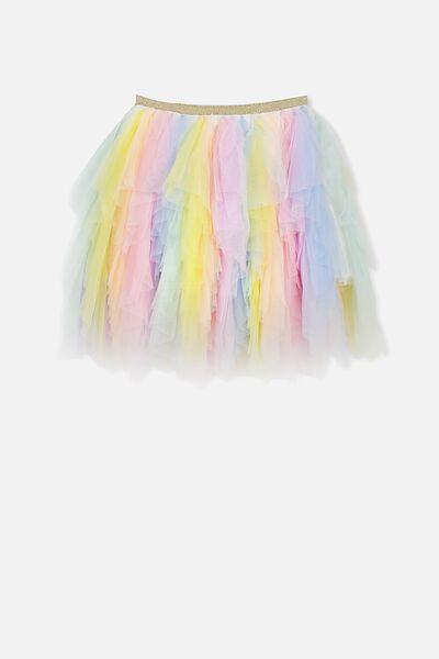 Tori Tulle Skirt, PASTEL RAINBOW