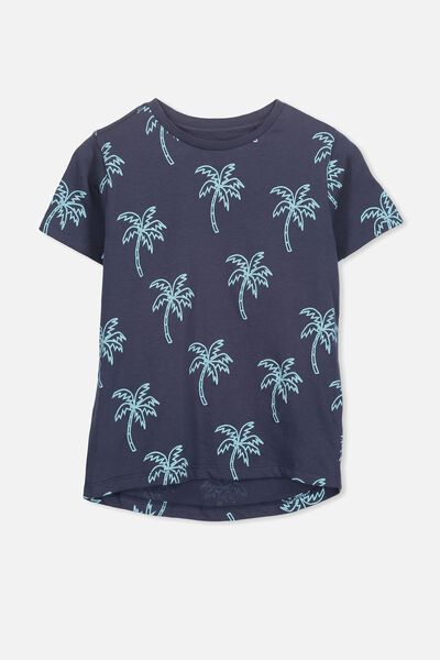 Max Short Sleeve Tee, NAVY/PALMS YDGE
