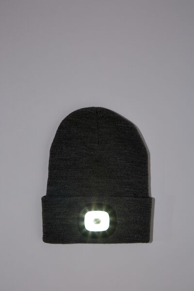 Light Up Beanie, GREY MARLE