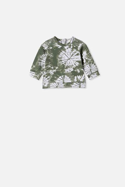 Billie Sweater, SWAG GREEN TIE DYE