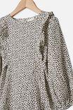 Beattie Long Sleeve Dress, DARK VANILLA/DABBY SPOT