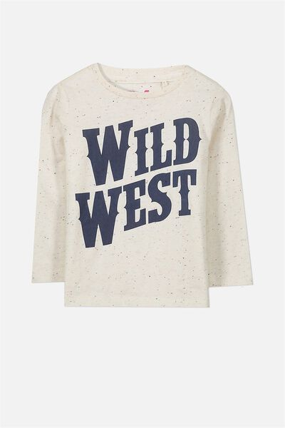 Tom Long Sleeve Tee, DARK VANILLA NEP WILD WEST/SIS