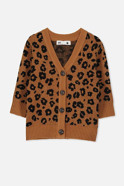 Coco Cardigan, AMBER BROWN/ANIMAL