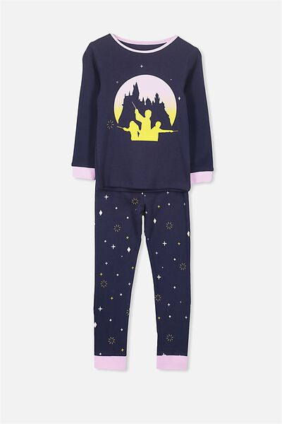 Kristen Girls Long Sleeve PJ Set, LCN HARRY POTTER HOGWARTS MAGIC