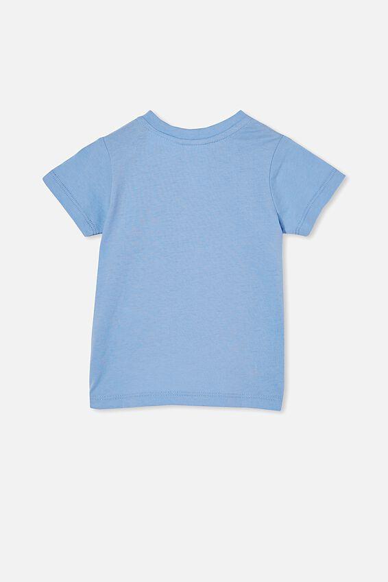 Jamie Short Sleeve Tee-License, LCN SAN DUSK BLUE/GUDETAMA HANG IN THERE