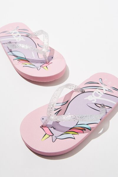 Printed Flip Flop, UNICORN