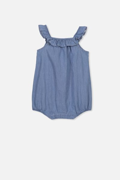 Queenie Playsuit, CHAMBRAY