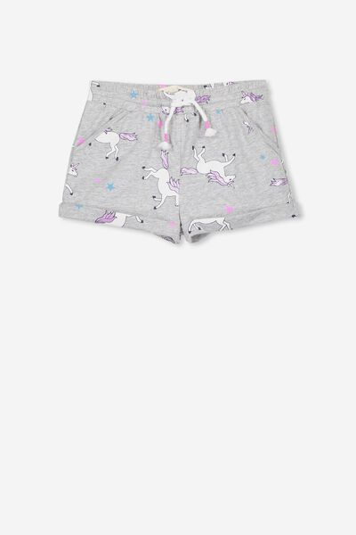Nila Knit Short, LIGHT GREY MARLE/UNICORN