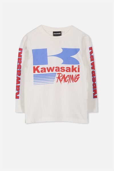 License Long Sleeve Tee, VANILLA KAWASAKI