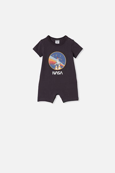 The Short Sleeve Romper, LCN NAS GRAPHITE GREY CIRCLE NASA