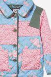 Margot Patchwork Jacket, PINK FLORALS