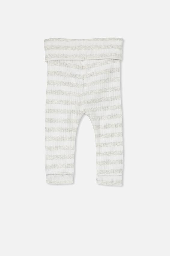 Newborn Legging, KYLE STRIPE MILK/CLOUD MARLE