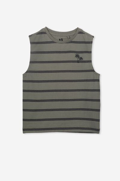 Otis Muscle Tank, SILVER SAGE/PHANTOM STRIPE