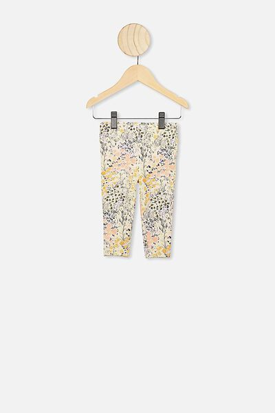 Quinn Ruffle Legging, LCN KIP/LITTLE FLOWERS
