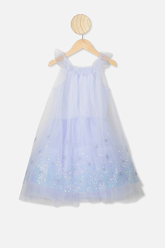 Disney Frozen Elsa Iris Tulle Dress, LCN DIS/ELSA CAPE