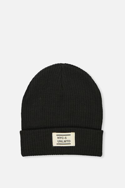 Ribbed Beanie, GRAPHITE GREY
