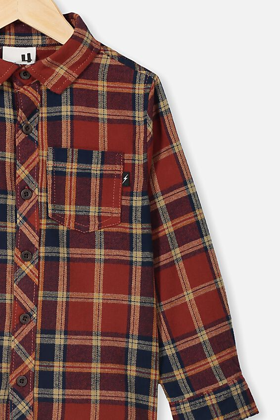 Rugged Long Sleeve Shirt, AUTUMN PLAID