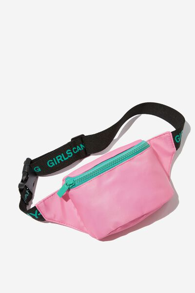 Fashion Sling Bag, FUCHSIA/SLOGAN