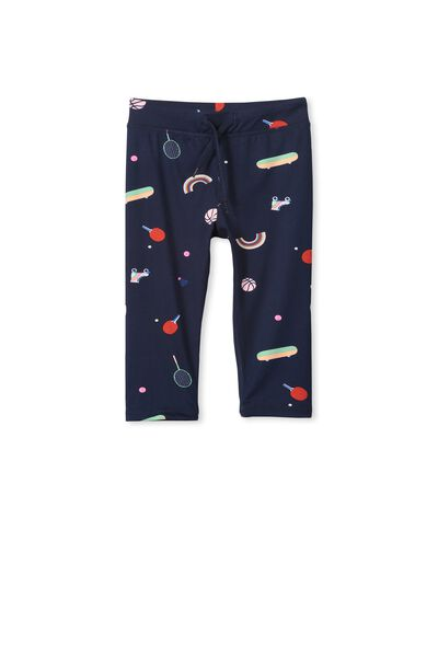 Active Print Cropped Legging, PEACOAT/SPORTS TIME