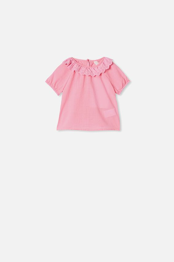Tammy Ruffle Neck Top, CALI PINK
