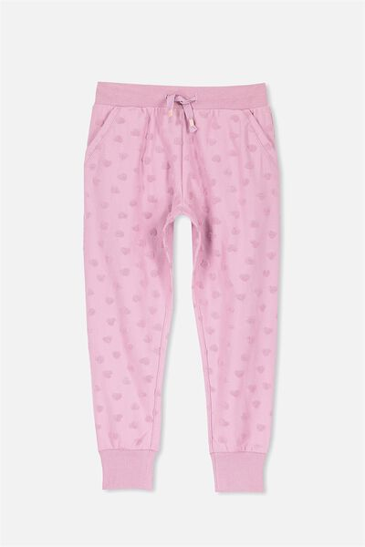 Kikii Trackpant, ORCHID HAZE/TEXTURED HEARTS