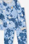 Orlando Long Sleeve Pyjama Set, TIE DYE BOLT/DUSK PETTY BLUE