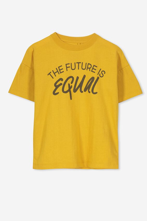 Max Loose Fit Tee, GOLD GLOW THE FUTURE IS EQUAL