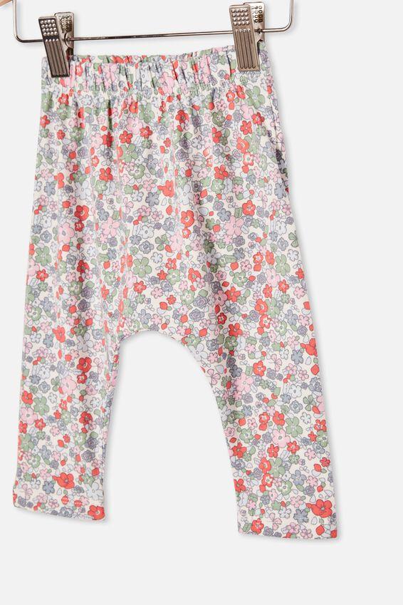 The Legging, VANILLA/CALI PINK GARDEN FLORAL