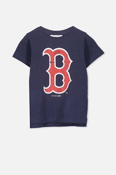 Girls Sports License Tee, NAVY/BOSTON RED SOCKS