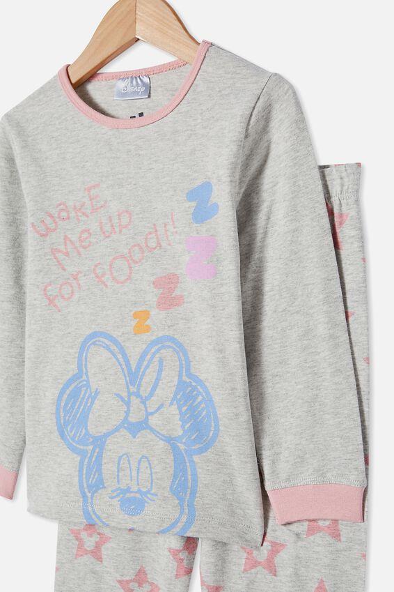 Florence Long Sleeve Pyjama Set Licensed, LCN DIS MINNIE FOOD / SUMMER GREY MARLE