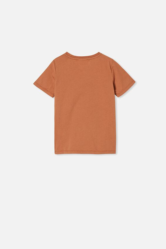 License Short Sleeve Tee, LCN MT AMBER BROWN/NO DOUBT