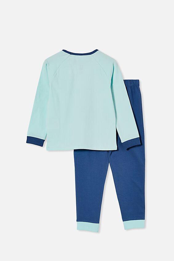 Disneyland Oscar Long Sleeve Pyjama Set, LCN DIS MICKEY MOUSE VARISTY/DREAM BLUE