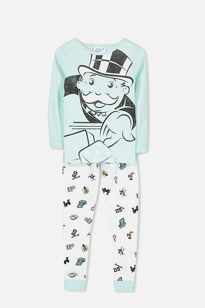 Charlie 1 Usa Long Sleeve Pajama Set, LCN MONOPOLY