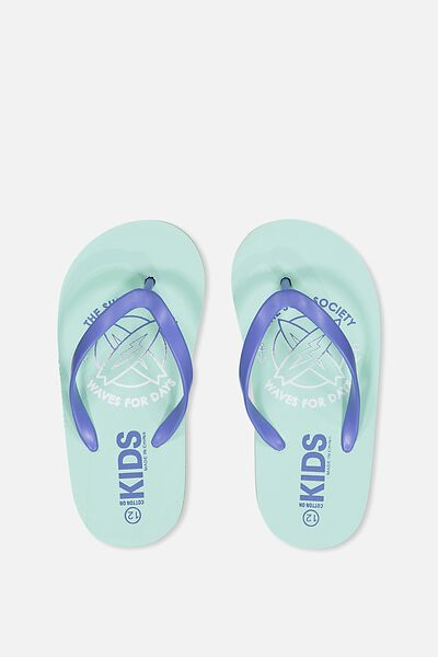 Printed Flip Flop, SURF SOCIETY MINT