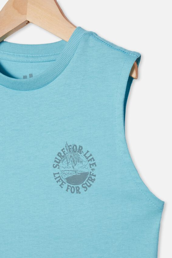 Otis Muscle Tank, BLUE ICE/SURF FOR LIFE