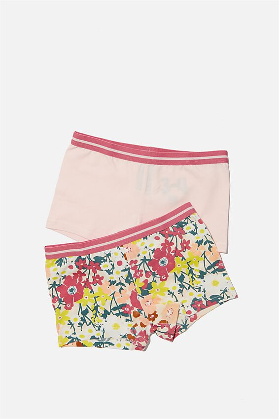 Girls 2Pk Shortie, MEADOW PRINT