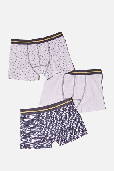 Boys 3 Pack Trunk, SHARKS