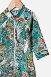 Cameron Long Sleeve Swimsuit, TROPICAL BIRD PARTY