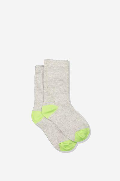 Fashion Kooky Socks, LINE GREY MARLE