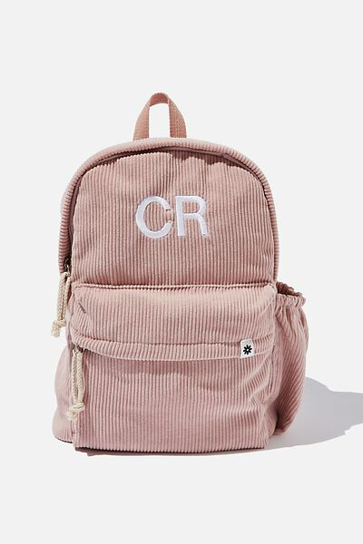Personalised Back To School Cord Backpack, PINK
