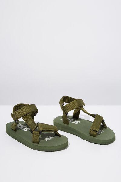 Charlie Woven Strap Sandal, KHAKI