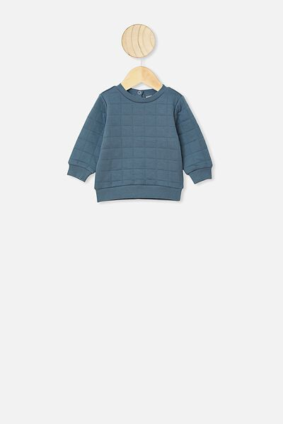 Scout Quilted Sweater, DEEP POOL BLUE