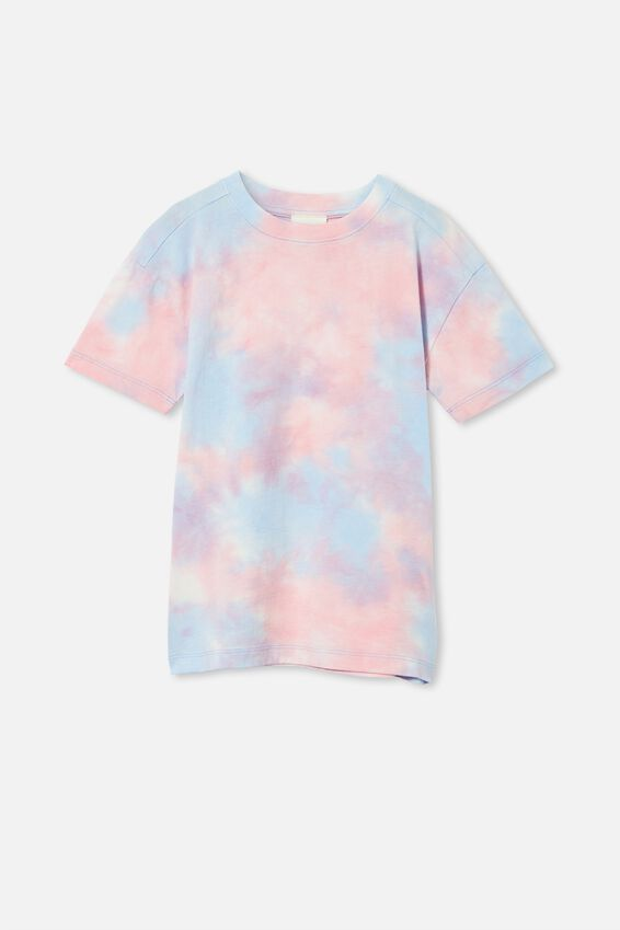 Scout Drop Shoulder Short Sleeve Tee, DUSK BLUE / RETRO WHITE / CALI PINK