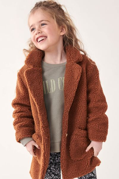 Arlo Teddy Jacket, AMBER BROWN